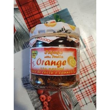 Naturalna herbata ziołowa z pomarańczą, kokosem