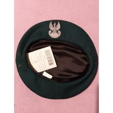Beret koloru zielonego wzór 418, rozmiar 54