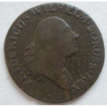PRUSY POŁUDNIOWE grosz 1796 B, Wrocław. Stan 3