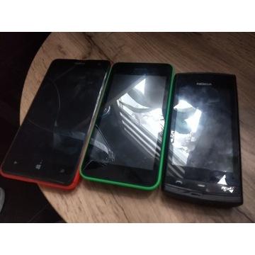Uszkodzone Nokie Lumia i Nokia 500