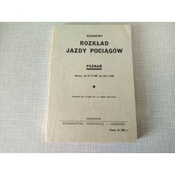 REJONOWY ROZKŁAD JAZDY POCIĄGÓW PKP POZNAŃ 1987/88