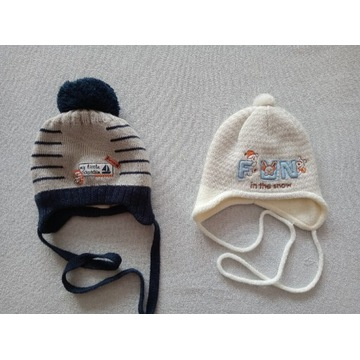 Czapka komplet 2 czapki dla chłopca 38-42