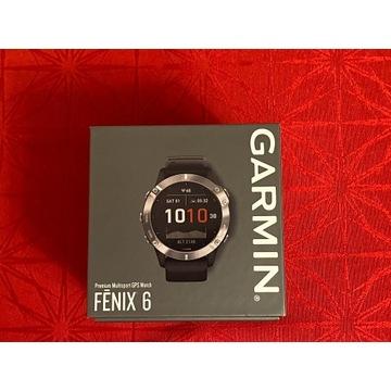 Nowy zegarek sportowy Garmin Fenix 6 srebrny
