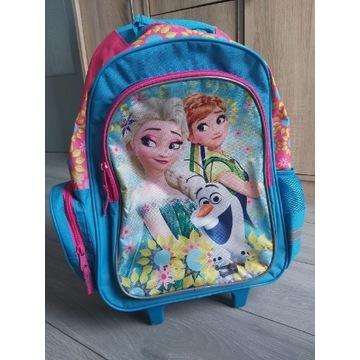 Plecak na kółkach z rączką Kraina Lodu Elsa
