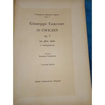 Ćwiczenia na głos niski G. Concone 1956 r.