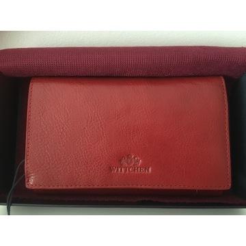 Portfel czerwony skórzany Wittchen 21-1-081-3