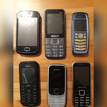 Zestaw 6 TELEFONÓW tanio