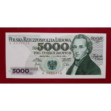 5000 złotych 1982 rok Seria A stan UNC