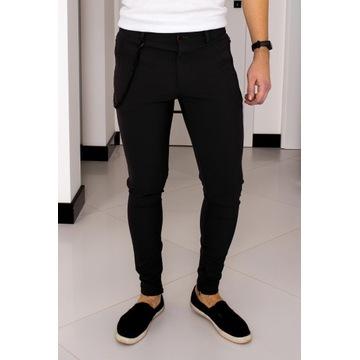 Spodnie Zara W30 (S - 38) Czarne Slim Fit 37N061