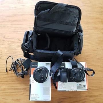 aparat Sony alfa ILCE-6000L + ob 16-50+55-210 Waw