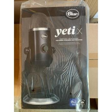 Mikrofon pojemnościowy Blue Yeti X Blackout USB
