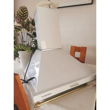 Klarstein biały Okap przyścienny, złote dodatki 60