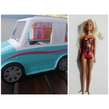 barbie, barbi, samochód, kamper