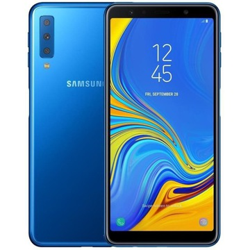 Samsung Galaxy A7 2018 Niebieski 64Gb/4GB Stan bdb