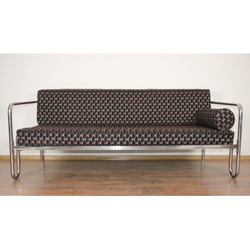Sofa Łóżko Kanapa Chrom Art Deco Bauhaus 30/50 II