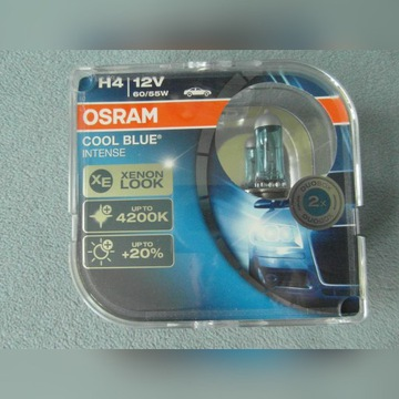 Żarówki OSRAM Cool Blue Intense H4 12V