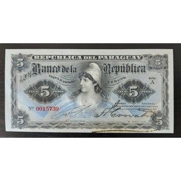 Paraguaj  5 Pesos 1907