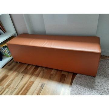 Pufa pomarańczowa 125 x 35 eko skóra