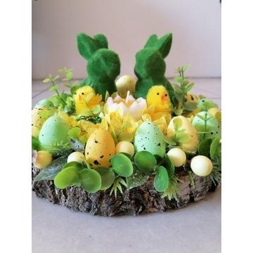 Stroik Wielkanocny na drewnie 25 cm