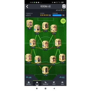 Konto Fifa 22 800k+ dużo kart niewymiennych