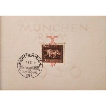 Niemcy 1937 Bl. 10**, Münchem-Riem