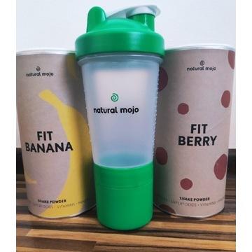 Zestaw fit Banan i Berry szejker Natural Mojo