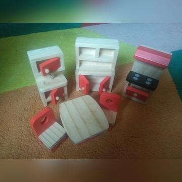 Drewniane mebelki dla lalek - kuchnia