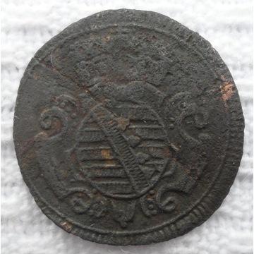 Saksonia Meiningen Fryderyk Wilhelm 1 halerz 1743