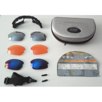 Zestaw soczewek okularów przeciwsłonecznych w etui