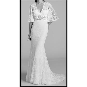 Suknia ślubna boho rustykalna, rozmiar 36, 172+5
