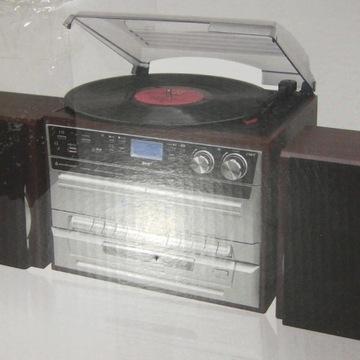 WIEŻA MCD5500 GRAMOFON CD KASETA SD USB FM DAB+