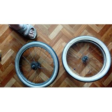 2 Koła do roweru  o średnicy 43 cm. z oponą