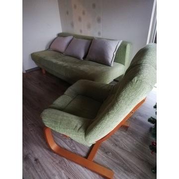 Sofa rozkładana, fotel