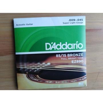 Struny do gitary akustycznej EZ890 D'Addario 9-45