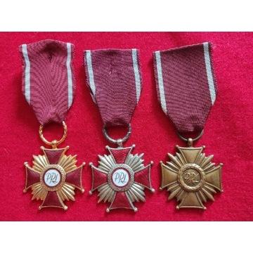 Krzyże zasługi PRL złoty ,srebrny ,brązowy