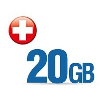 Internet na kartę 20GB Roaming Szwajcaria
