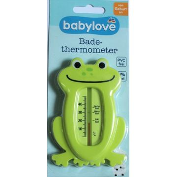 Termometr kąpielowy Babylove Żabka zielony