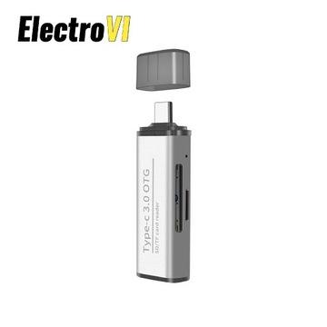 Czytnik kart pamięci SD microSD na USB-C SPU-CR03