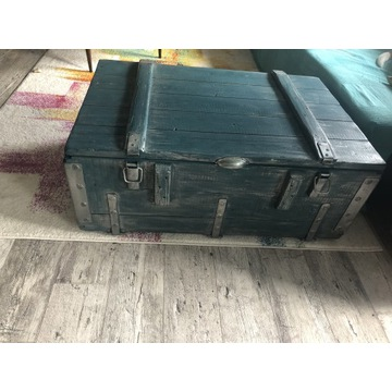 Skrzynia drewniana- kufer ( stolik kawowy)