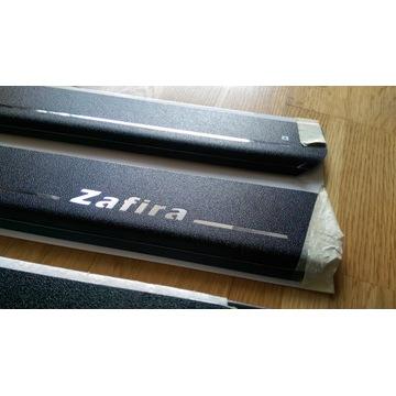 AVISA Listwy nakładki progowe Opel ZAFIRA czarne