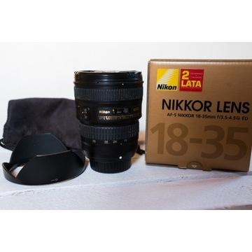 Nikon Nikkor AF-S 18-35 mm f/3.5-4.5G ED bdb stan