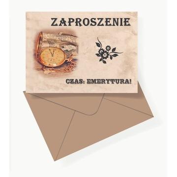 Zaproszenie na emeryturę 13x13 cm