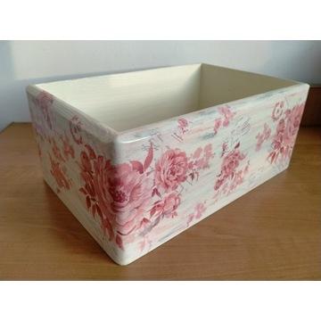 Pudełko skrzynka decoupage kwiaty!! HAND MADE :)