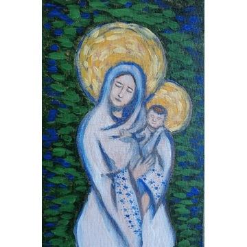 Obraz akryl Madonna z Dzieciątkiem ludowa prezent