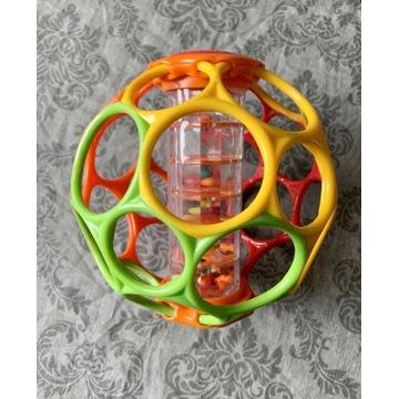 OBall piłka grzechotka kolorowa zabawka sensory