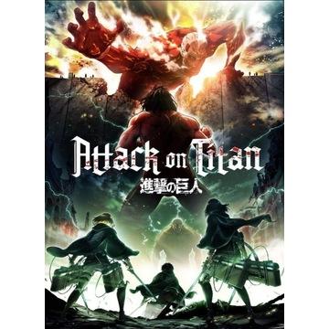 Plakat anime Shingeki no Kyojin attack on titan