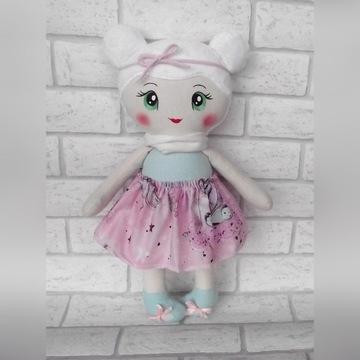 Lalka szmacianka handmade prezent roczek chrzest