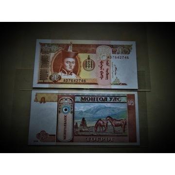 Mongolia Banknot 5 Tugrik 2008 UNC