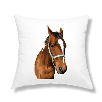 Poduszka jasiek z wypełnieniem 40x40 konie koń