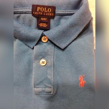 * POLO RALPH LAUREN * T-shirt 4L dziecko,niebieski